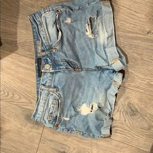 Midi jean shorts, lightwash